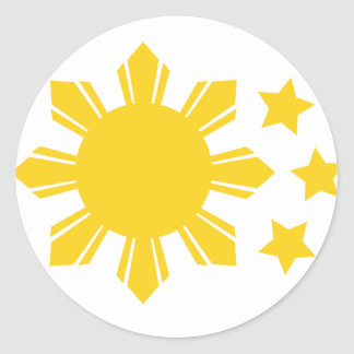 Philippine Flag - Proud to be Pinoy! Classic Round Sticker
