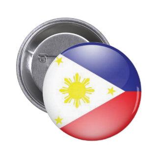 Philippine Flag (round) Button