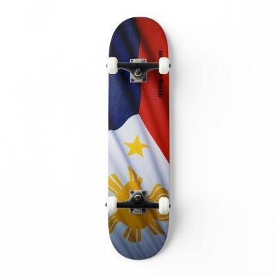 Philippine flag skateboard