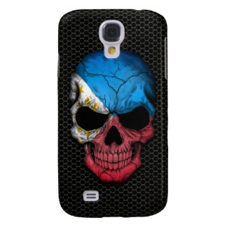Philippine Flag Skull on Steel Mesh Graphic Galaxy S4 Cover