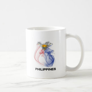 PHILIPPINE FLAG smoke Classic White Coffee Mug