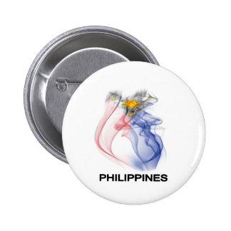 PHILIPPINE FLAG smoke Pinback Buttons
