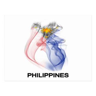 PHILIPPINE FLAG smoke Postcard