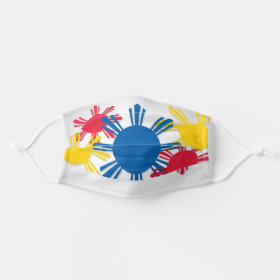 Philippine Flag Sun Pattern Cloth Face Mask