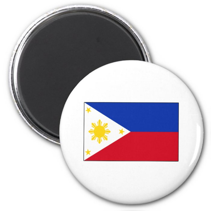 Philippine Flag T-shirts and Gifts 2 Inch Round Magnet