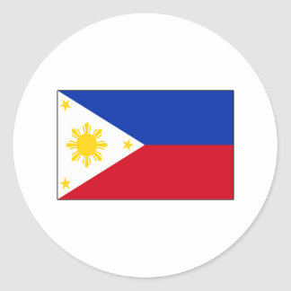 Philippine Flag T-shirts and Gifts Classic Round Sticker