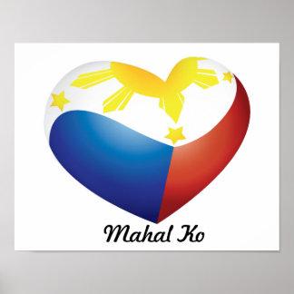"Philippine Heart Flag ""Mahal Ko"" Poster"