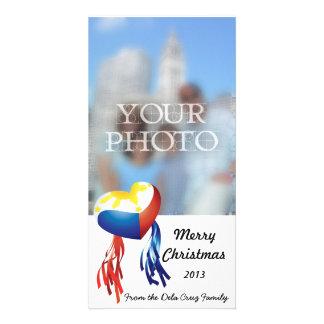 Philippine Heart Flag Parol Photo Card Customize
