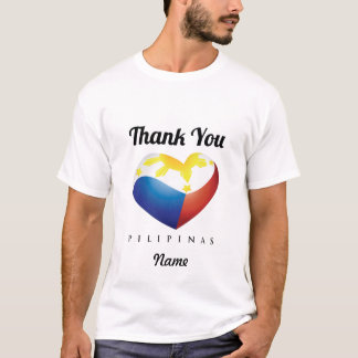 "Philippine Heart Flag with ""Thank You"" Tee Custom"