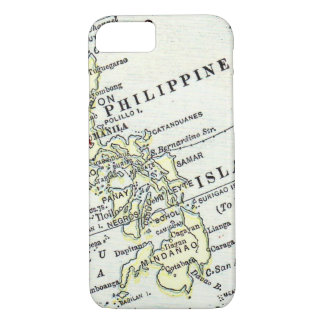 Philippine Islands Manila vintage map iPhone 7 Case