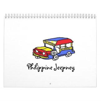 Philippine Jeepney Calendar