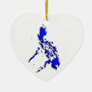 Philippine Map Ceramic Ornament