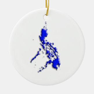 Philippine Map Christmas Tree Ornament