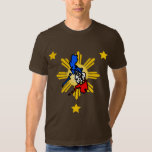 philippine map with 3 stars t-shirt