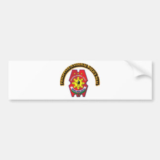 Philippine National Police Seal with Text Bumper Sticker