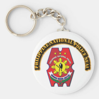 Philippine National Police Seal with Text Basic Round Button Keychain
