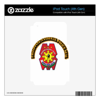 Philippine National Police Seal with Text iPod Touch 4G Decal