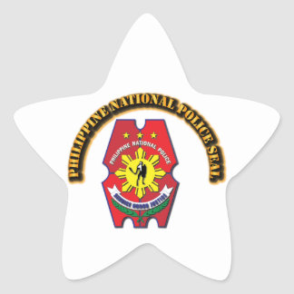 Philippine National Police Seal with Text Star Sticker