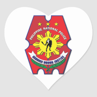 Philippine National Police Seal without Text Heart Sticker