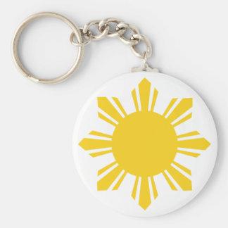 Philippine Sun, Pinoy Sun, Filipino Sun Keychain