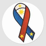 """Philippine """"support""""  ribbon stickers"""