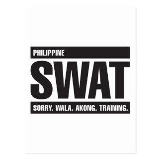 Philippine SWAT - Tagalog - Black Postcard