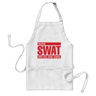 Philippine SWAT - Tagalog - Red Adult Apron