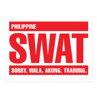 Philippine SWAT - Tagalog - Red Post Card