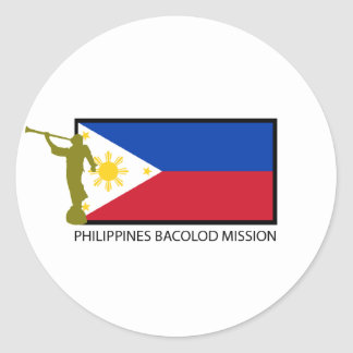 PHILIPPINES BACOLOD MISSION LDS CTR CLASSIC ROUND STICKER