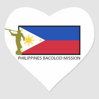 PHILIPPINES BACOLOD MISSION LDS CTR HEART STICKER