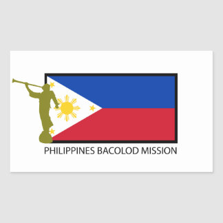 PHILIPPINES BACOLOD MISSION LDS CTR RECTANGULAR STICKER