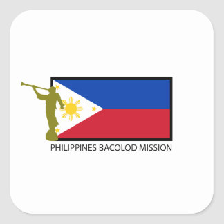 PHILIPPINES BACOLOD MISSION LDS CTR SQUARE STICKER