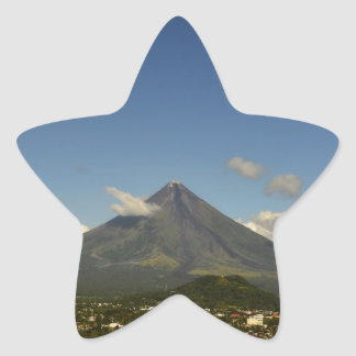Philippines Bicol Mayon Volcano Photography Star Sticker