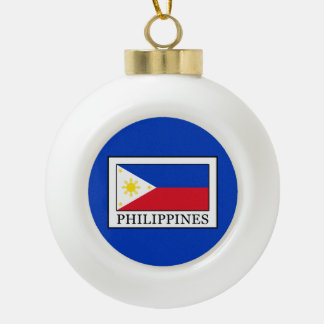 Philippines Ceramic Ball Christmas Ornament