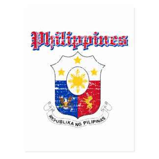 Philippines coat of arms designs postcard