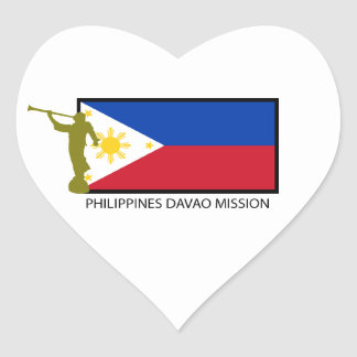 PHILIPPINES DAVAO MISSION LDS CTR HEART STICKER