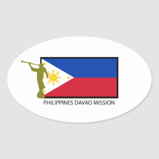PHILIPPINES DAVAO MISSION LDS CTR OVAL STICKER