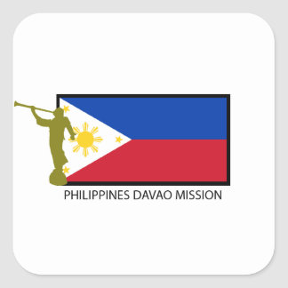 PHILIPPINES DAVAO MISSION LDS CTR SQUARE STICKER