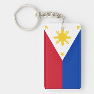 Philippines Double-Sided Rectangular Acrylic Keychain