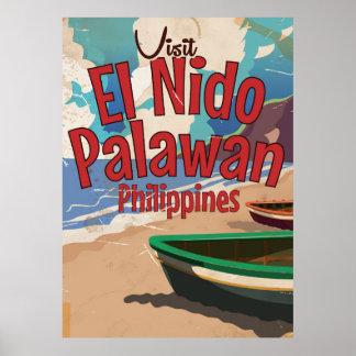 Philippines,El Nido, Palawan Travel poster. Poster