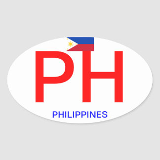 Philippines - Euro-style Oval Sticker
