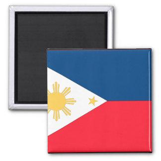 Philippines Flag 2 Inch Square Magnet
