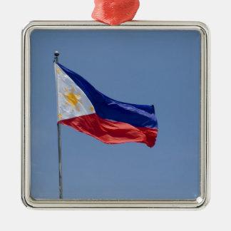 Philippines Flag (2) Metal Ornament