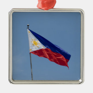 Philippines Flag (3) Metal Ornament