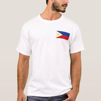 Philippines Flag and Map T-Shirt