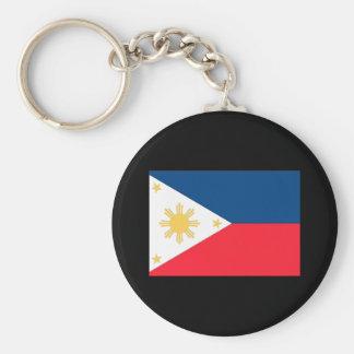 Philippines Flag Basic Round Button Keychain