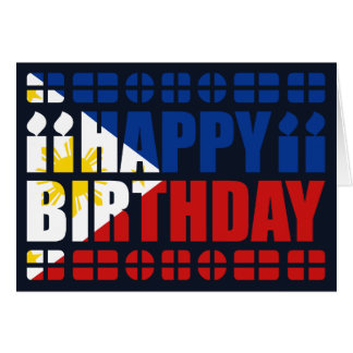 Philippines Flag Birthday Card