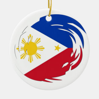 Philippines Flag Ceramic Ornament