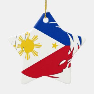 Philippines Flag Ceramic Ornament