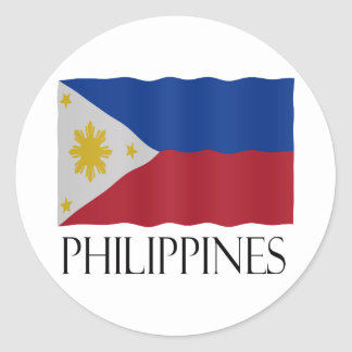 Philippines flag classic round sticker
